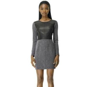 Club Monaco Dayna Tweed and Leather Dres